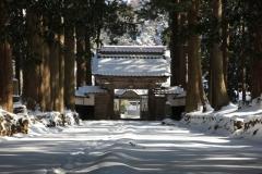 静粛の山門/眼目山立山寺(2010/2/25)